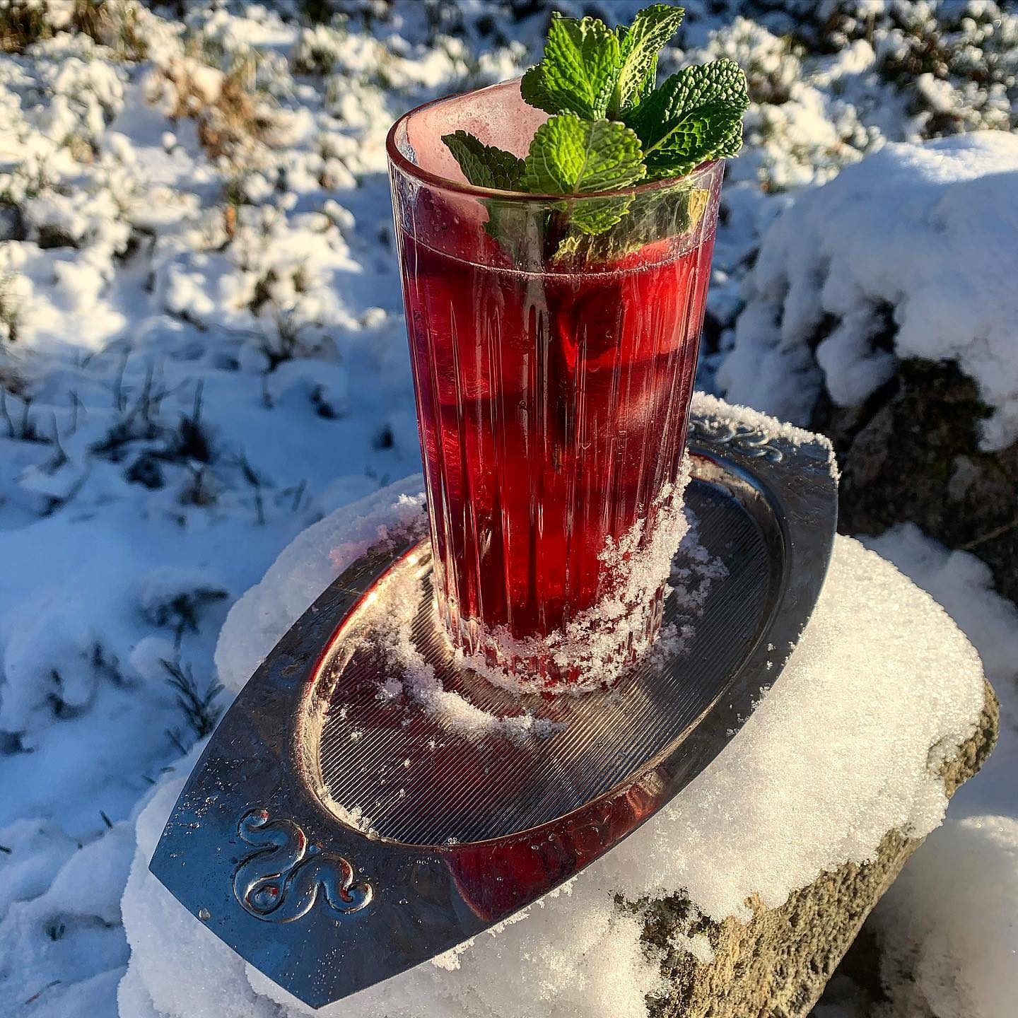 Veckans Cocktail :Don's Daughter -Bourbon, Amaro Montenegro, Körsbärsjuice, Myntasyrup, Citron, Sodavatten, Cherry&Angostura Bitters #cocktail#cocktails