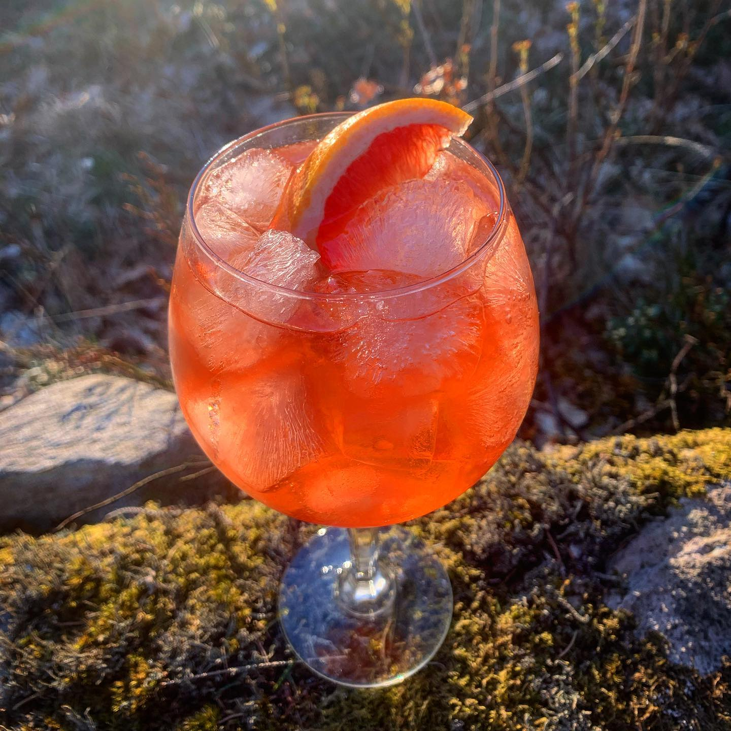 Veckans Cocktail:King Crimson Royal -Gin, Sloe Gin, Pampelle Ruby Grape Aperitif, Citron, Cava, Sodavatten.